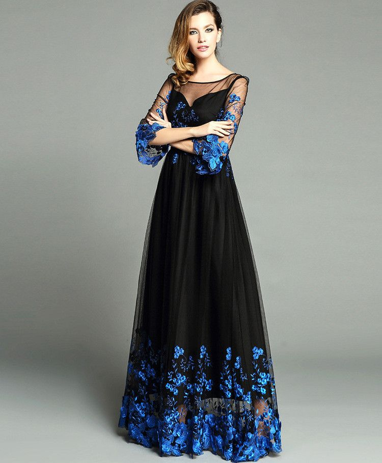 Black Embroidered Maxi Dress   Dresses   Dresses, Prom dresses, Gowns eafa28bf99