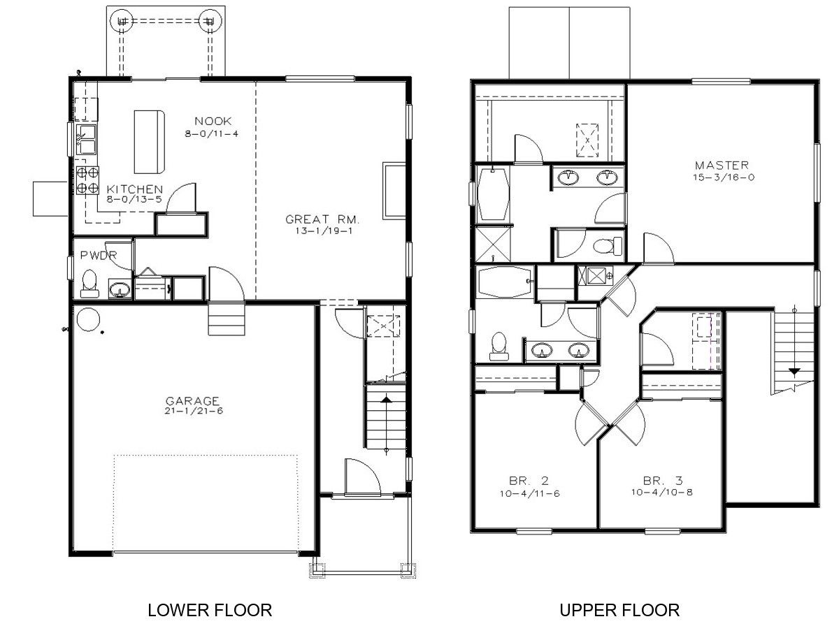 Three Story Townhouse Plan D5214 2524 Town House Floor Plan Narrow Lot House Plans Town House Plans