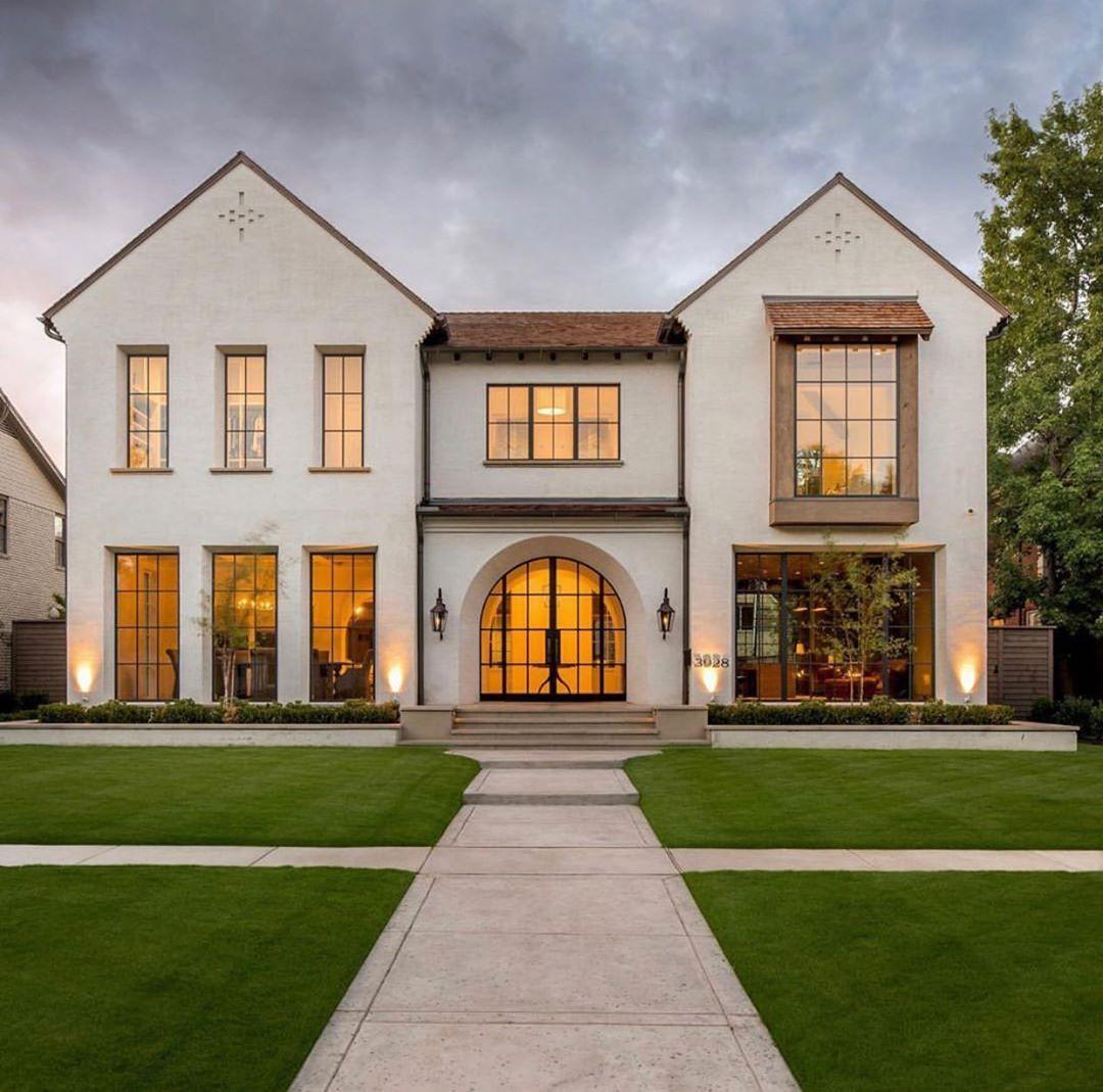 Luxury Custom Home Builder On Instagram Rain Rain Go Away Come Again With A Costachristmedia Day Tudor House Exterior Custom Home Builders House Exterior