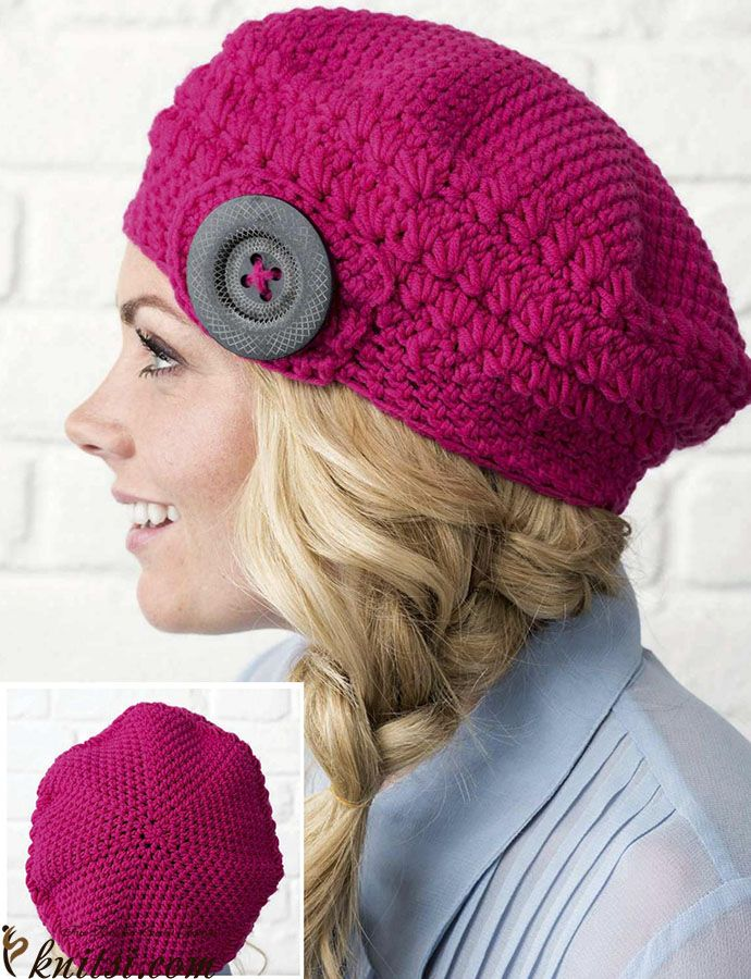Beret Crochet Pattern Free Knitsicrochet Hats Scarves343
