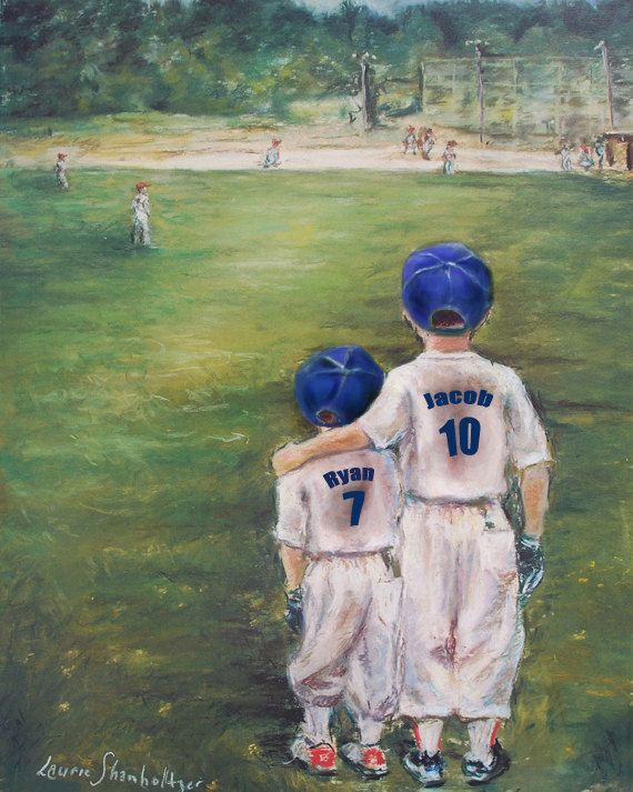 """Baseball Personalized """"Someday...Little Brother"""" choose boy or girl by Laurie Shanholtzer, $18.00"""