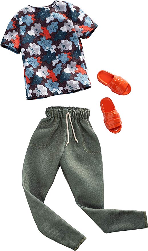Gray Splash Print Shirt /& Gray Pants-Doll Clothes
