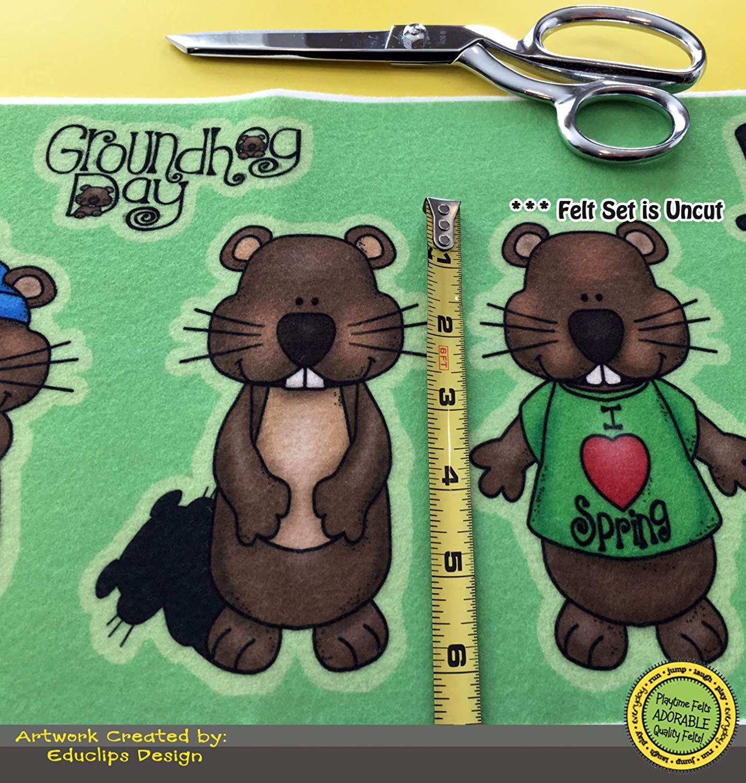 Playtime Felts Groundhog Day Felt Set For Flannel Boards