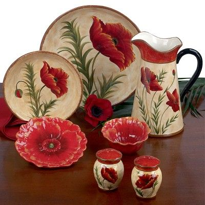 Red Poppy Dinnerware by Pier 1.  sc 1 st  Pinterest & Red Poppy Dinnerware by Pier 1. | :: Everything Else but the Kitchen ...