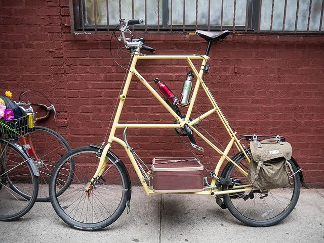 A Tall Bike With A Place For Your Suitcase Bike Design Bicycle