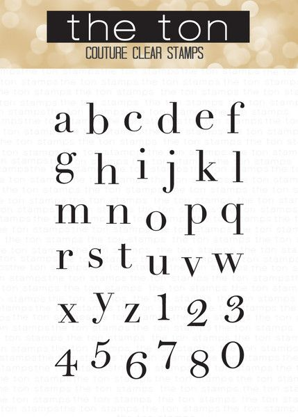 83b1b7ca05f Our Vogue Alpha Lower clear stamp set is the first alphabet set in our  collection. This set features lowercase letters and numbers in a clean