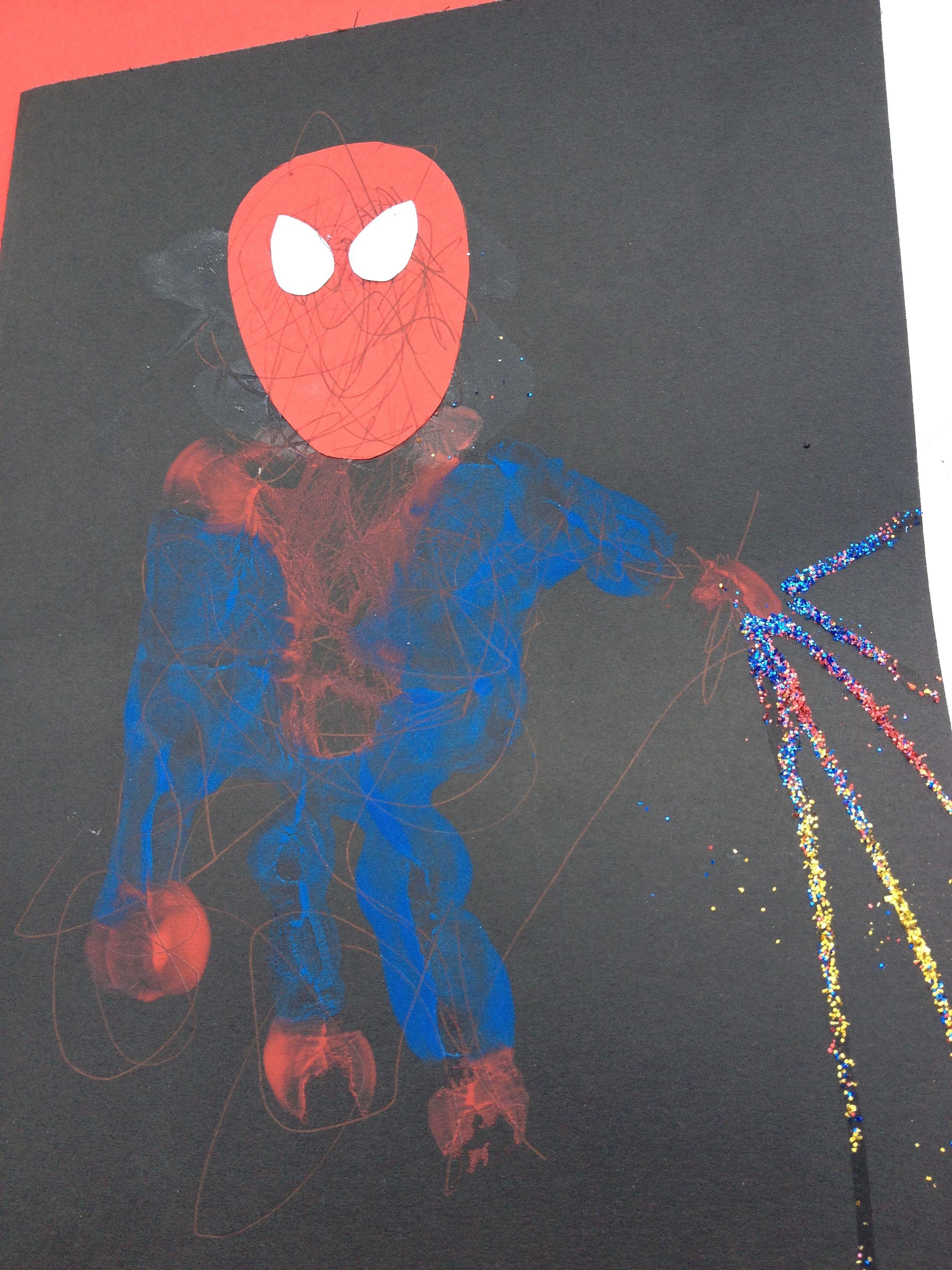 Spider-Man handprint art | Spiderman | Pinterest