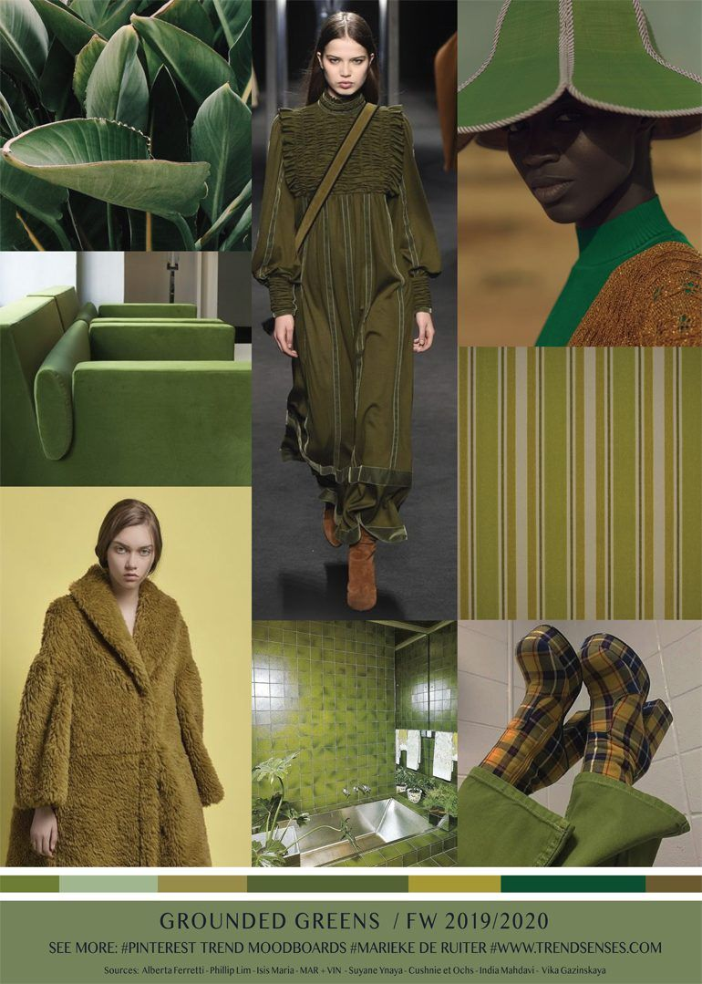 MOODBOARD - GROUNDED GREENS - FALL WINTER 2019/2020 ...