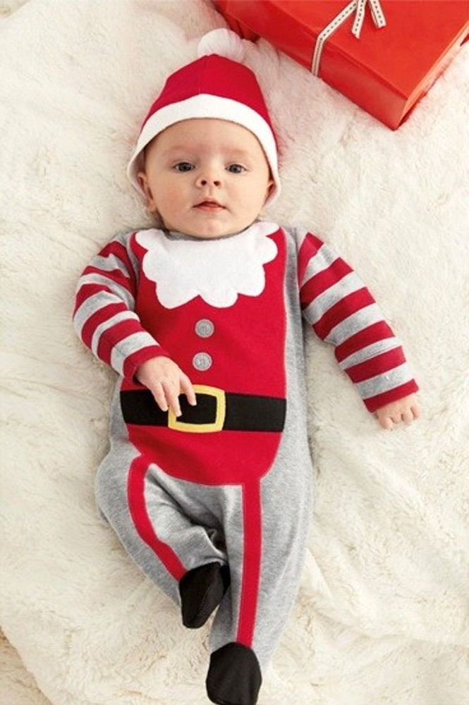 63d6f714f Xmas Santa Claus Rompers Infant Babies Kid Cute Christmas Costume Outfit  Set New #Unbranded #Fashion