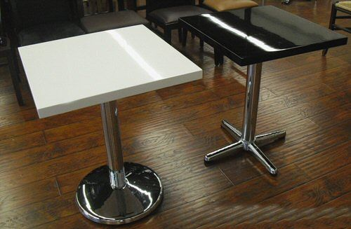 Restaurant Table Tops Plain Black And White Epoxy Resin Table Tops - Restaurant resin table tops
