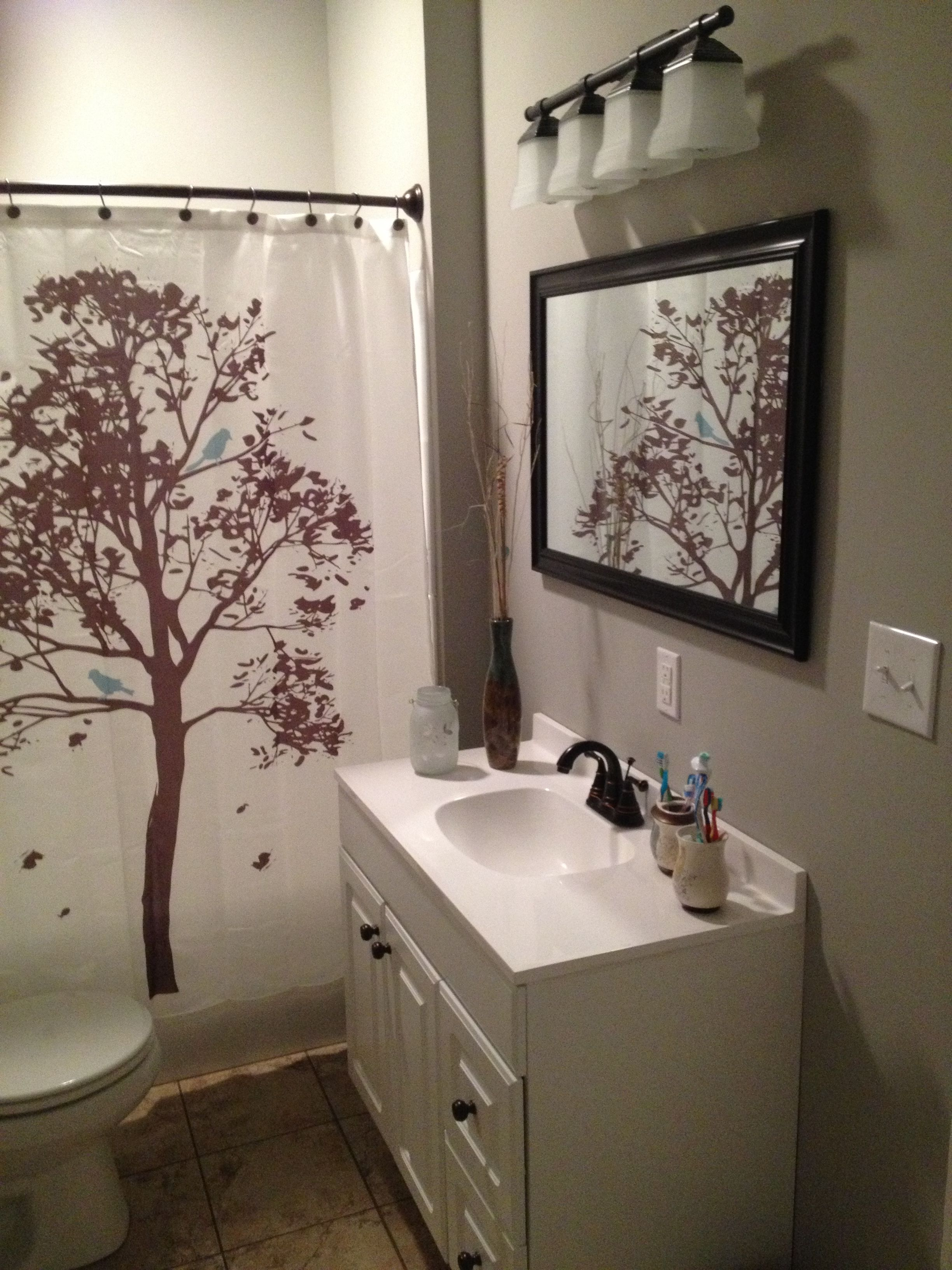 Walmart Bathroom Shower Curtains: Love The Tree Shower Curtain From Walmart