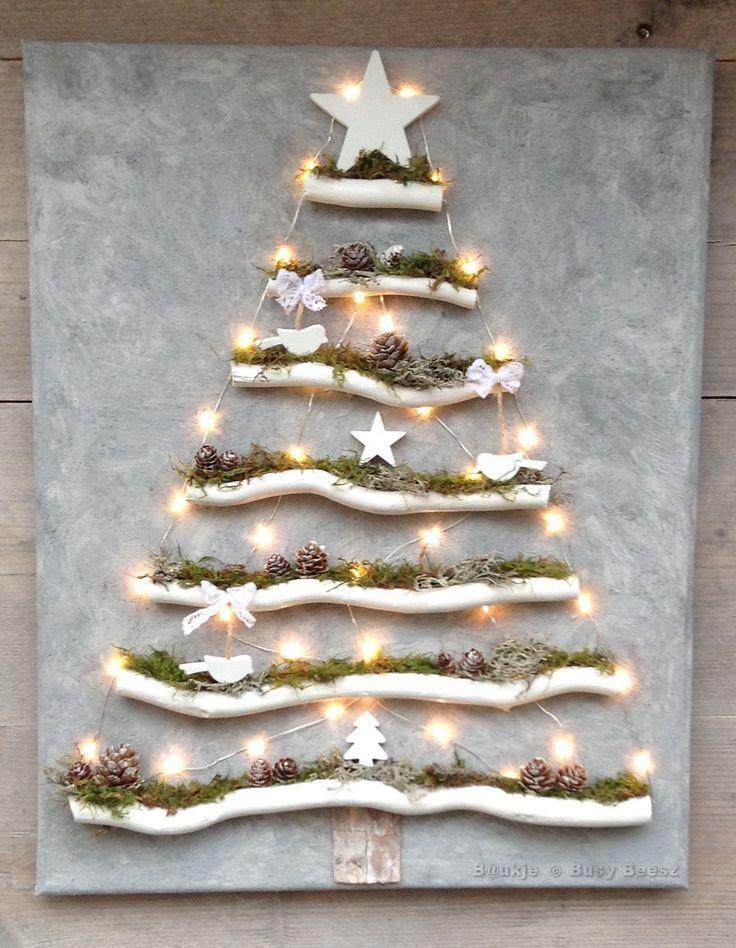 Weihnachtsbaum auf Leinwand - Weihnachtsbaum auf Leinwand # Xmas #led #driftwood... - #auf #Driftwood #led #Leinwand #Weihnachtsbaum #Xmas #boisflotté
