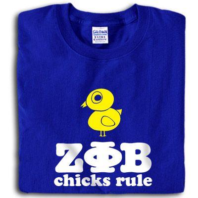 Zeta Phi Beta Sorority Chicks Rule Printed T-Shirt $15.95 #ZetaPhiBeta #Greek #sorority #Zeta #clothing