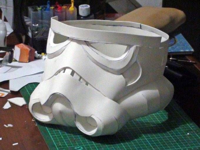 stormtrooper helmet with eva foam pepakura geek pinterest helmets pepakura files and foam. Black Bedroom Furniture Sets. Home Design Ideas