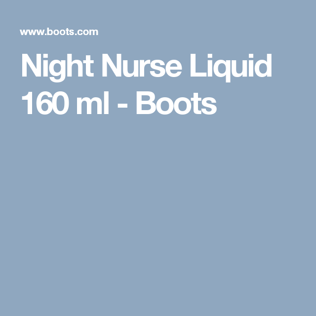 Night Nurse Liquid 160 ml - Boots