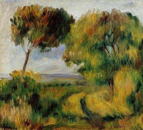 Breton Landscape Trees And Moor - Pierre-Auguste Renoir