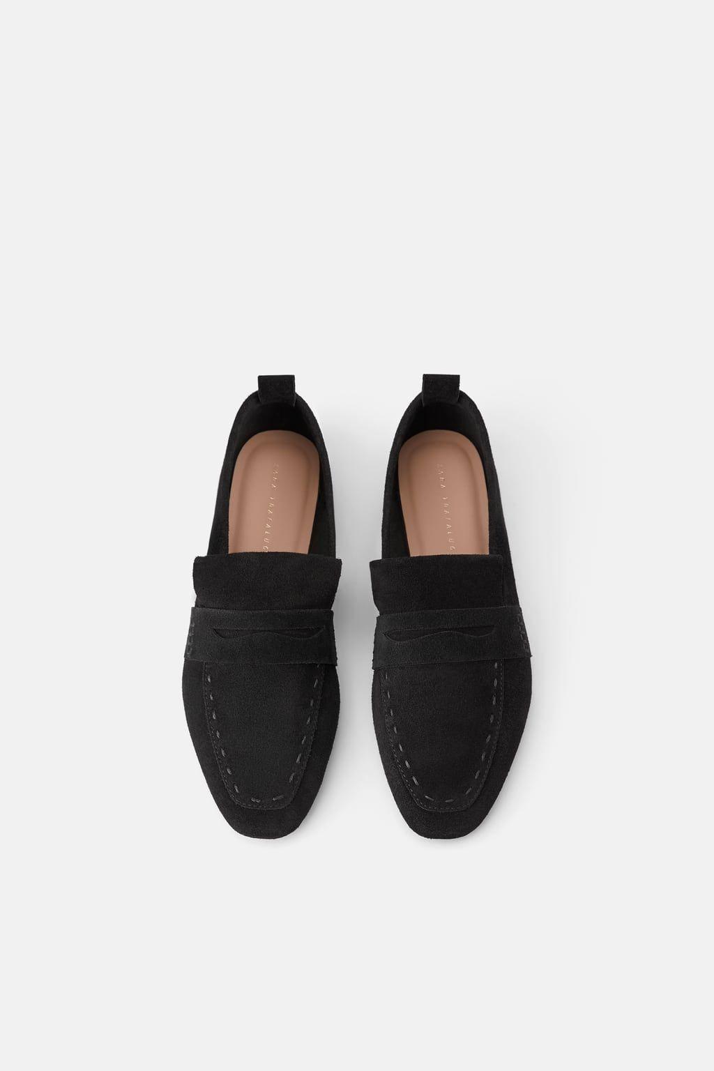 e9114559da SPLIT SUEDE LOAFERS DETAILS3,990 RSDBLACK - 3566/001 Leather Loafer Shoes,  Leather