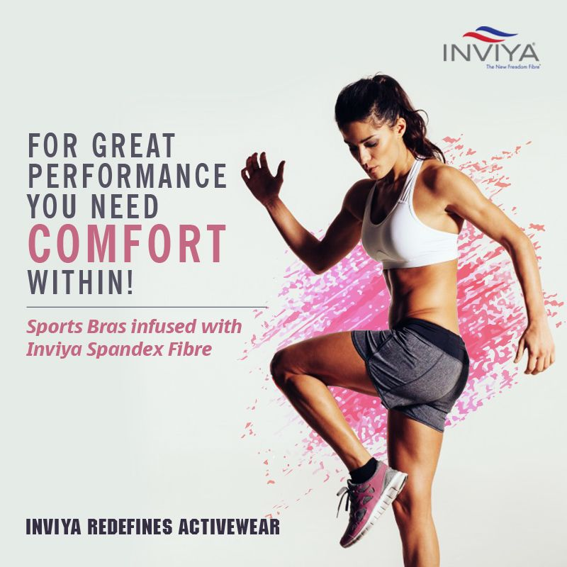 Challenge yourself a little more and work towards the perfect body as #Inviya infused #sports bra gives you limitless #comfort from within!                             #InviyaRedefinesActivewear