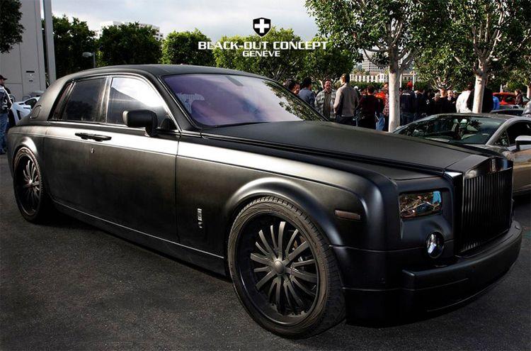 Matte Black Rolls-Royce Phantom Menace |Matte Black Rolls Royce Phantom 2014