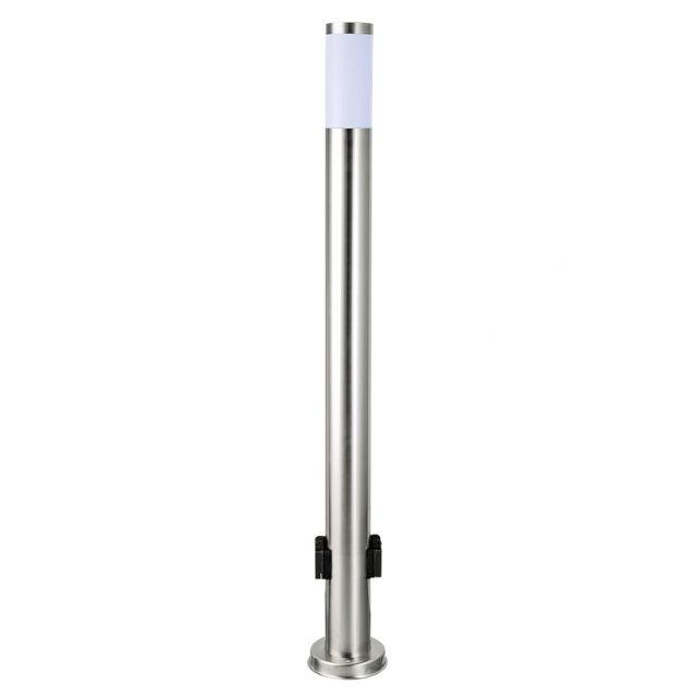 LED Standleuchte 105cm Mit Steckdose, Sockelleuchte, Pollerleuchte,  Wegleuchte, Edelstahl, Außenleuchte,