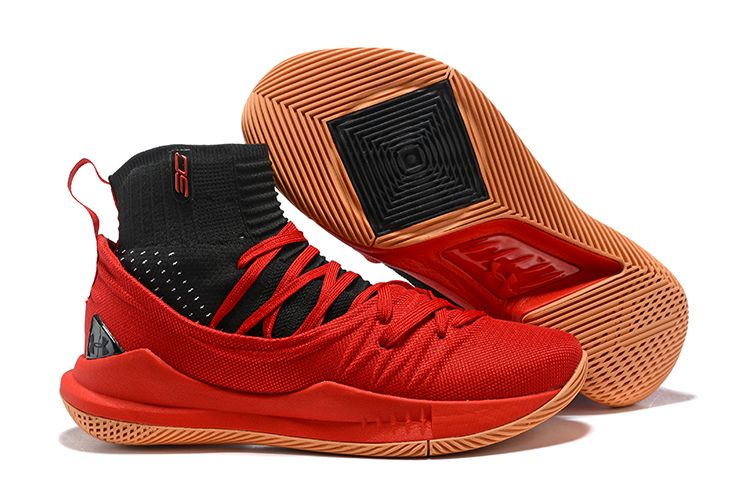 outlet store bdb45 b60ca UA Stephen Curry 5 Basketball Shoes Red Black on www ...