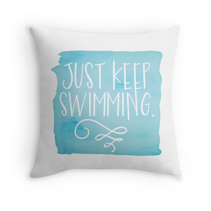 Just Keep Swimming Throw Pillows Disney Pillows Throw Pillows Pillows