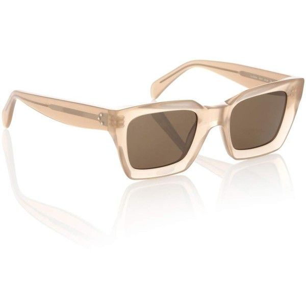 b066d3b64b6 Céline Eyewear Kate Rectangular Sunglasses ( 355) ❤ liked on Polyvore  featuring accessories