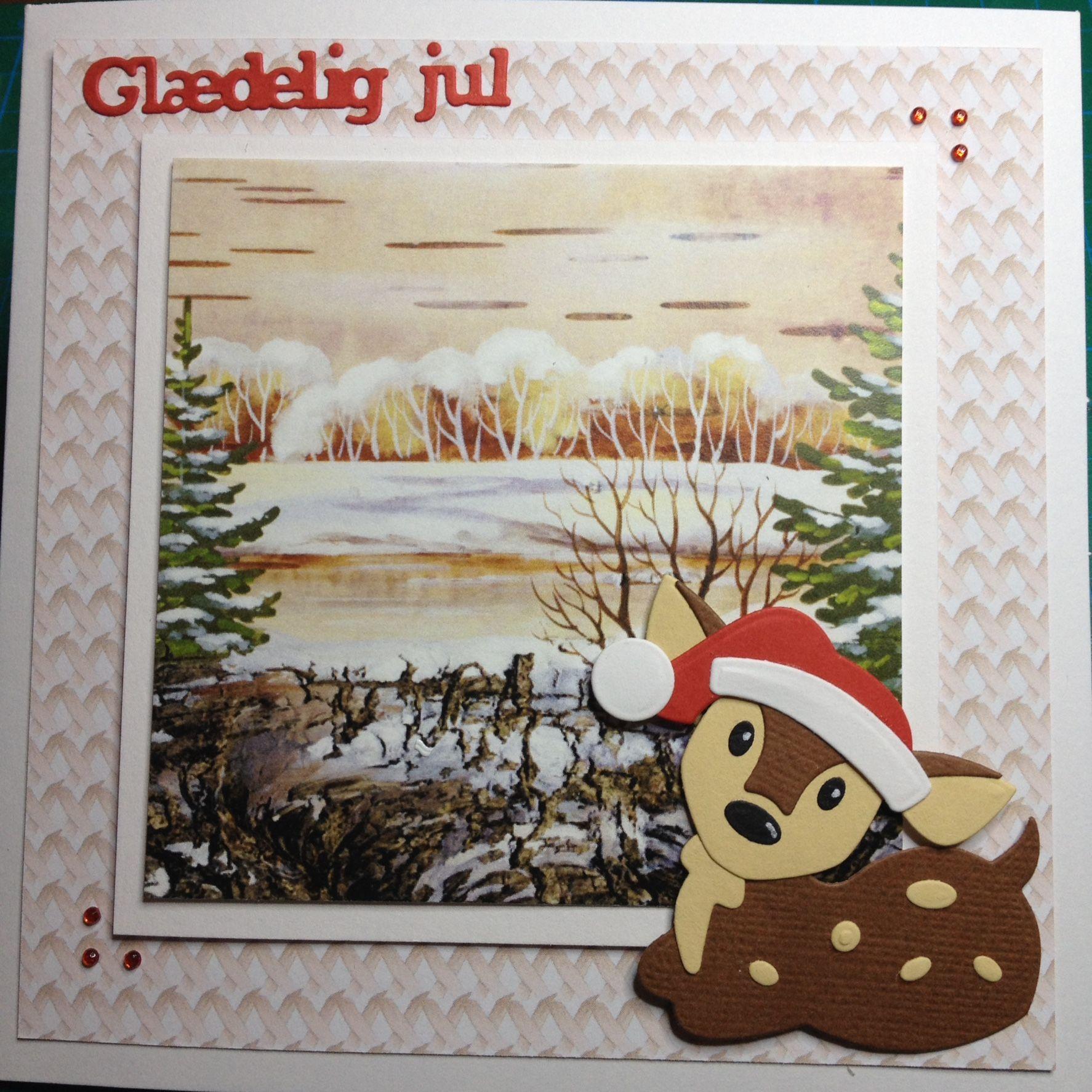 Card christmas deer