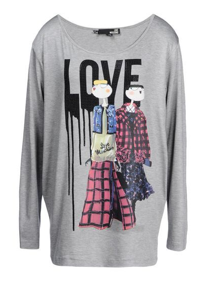 Moschino Love Moschino Long Sleeve T-Shirt - was $295.0, now $148.0 (50% Off) @ Moschino