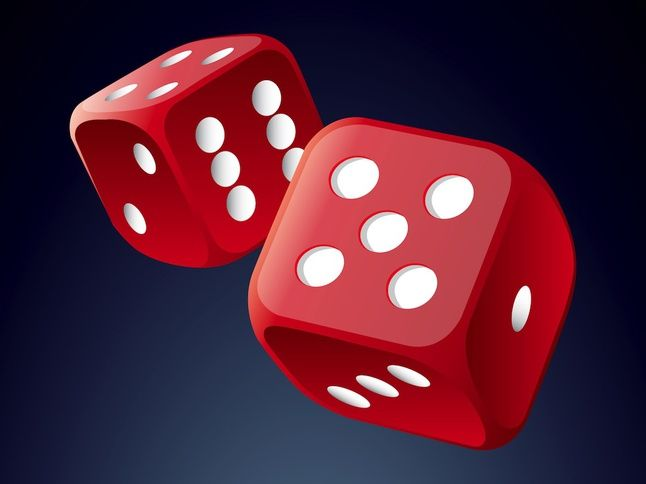 Rolling Dice Vector Free Rolling Dice Gambling Gift Red