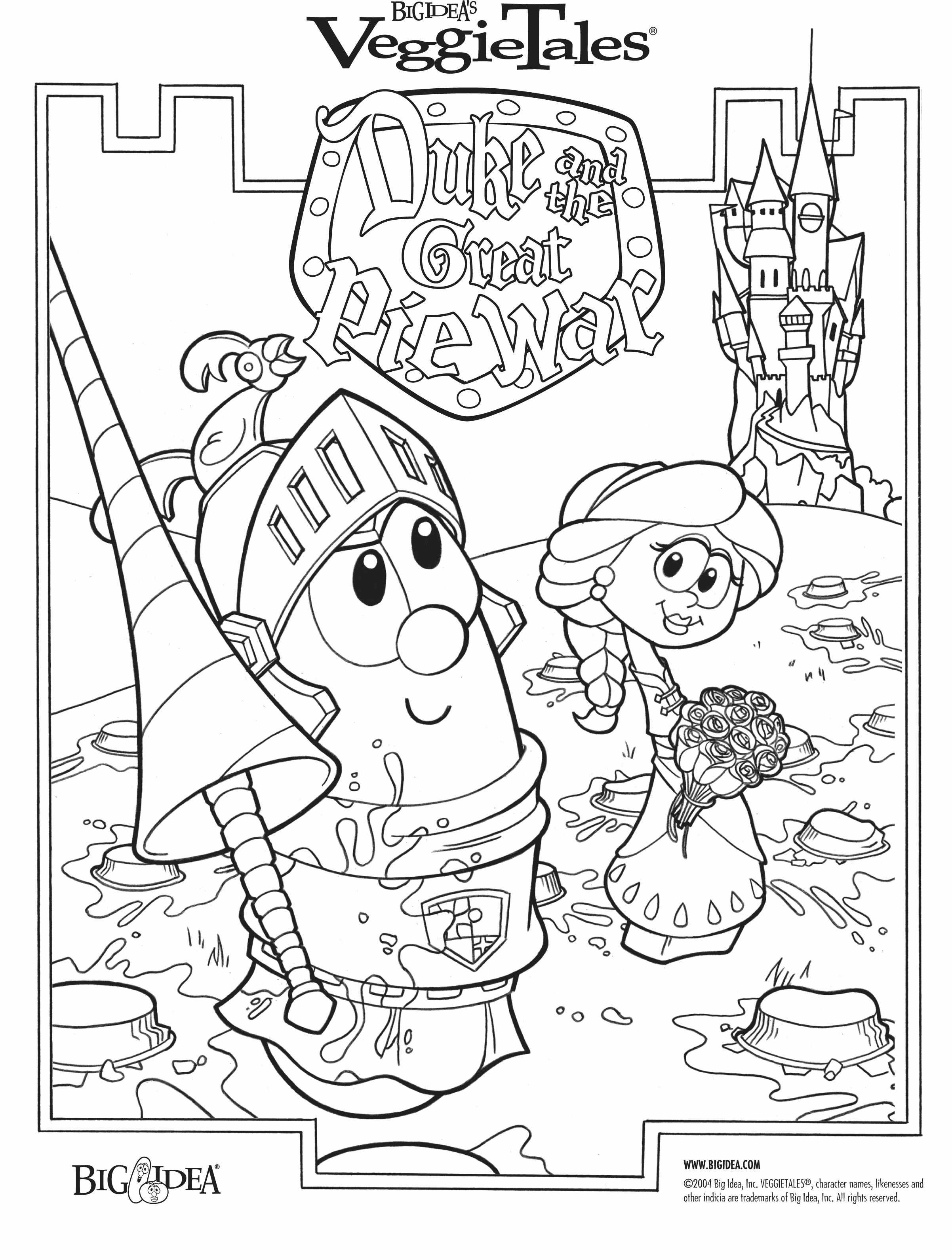 Duke & the Great Pie War Bible Story Coloring Pages For Preschoolers ...