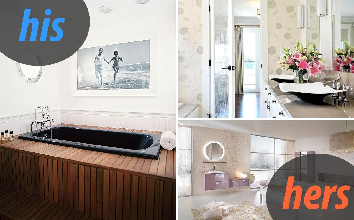 Masculine and Feminine Bathrooms: \
