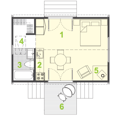 Amazing 400 Square Foot House Plans 400