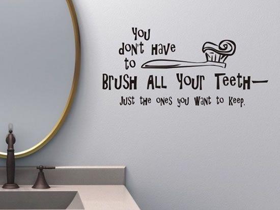 Creative And Fun Bathroom Quote Wall Stickers Badkamer Muur