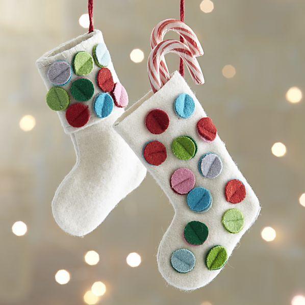 stocking ornament * Fieltro Ideas * Pinterest Advent calendars
