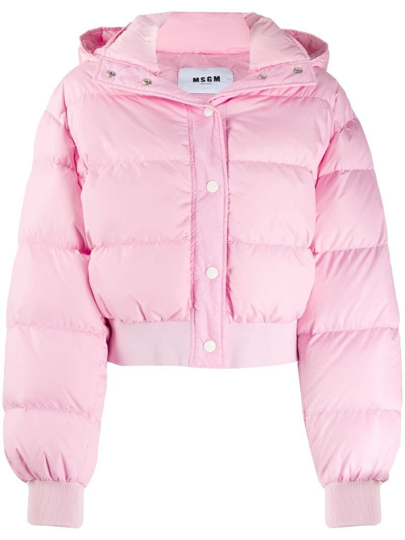 Msgm Cropped Puffer Jacket Farfetch Cropped Puffer Jacket Pink Puffer Jacket Fashion Outfits [ 1067 x 800 Pixel ]