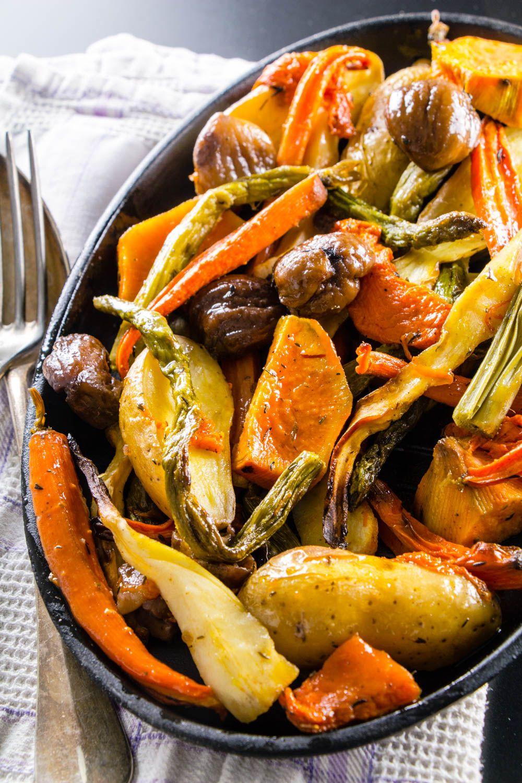 Légumes d'hiver rôtis au sirop d'érable Légumes d'hiver