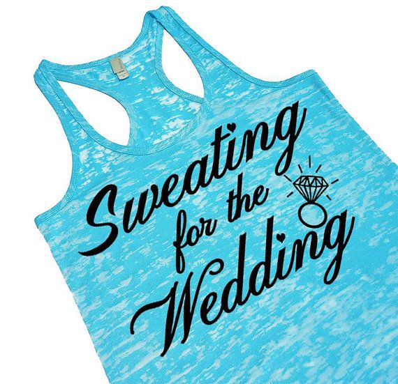 Sweating for the Wedding Tank Top. Sweating for by EconomyGrocery