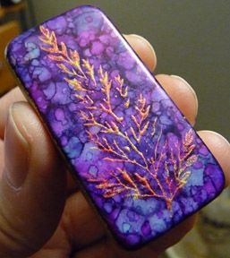 Make Alcohol Ink With Acrylic Paint Polymer Clay