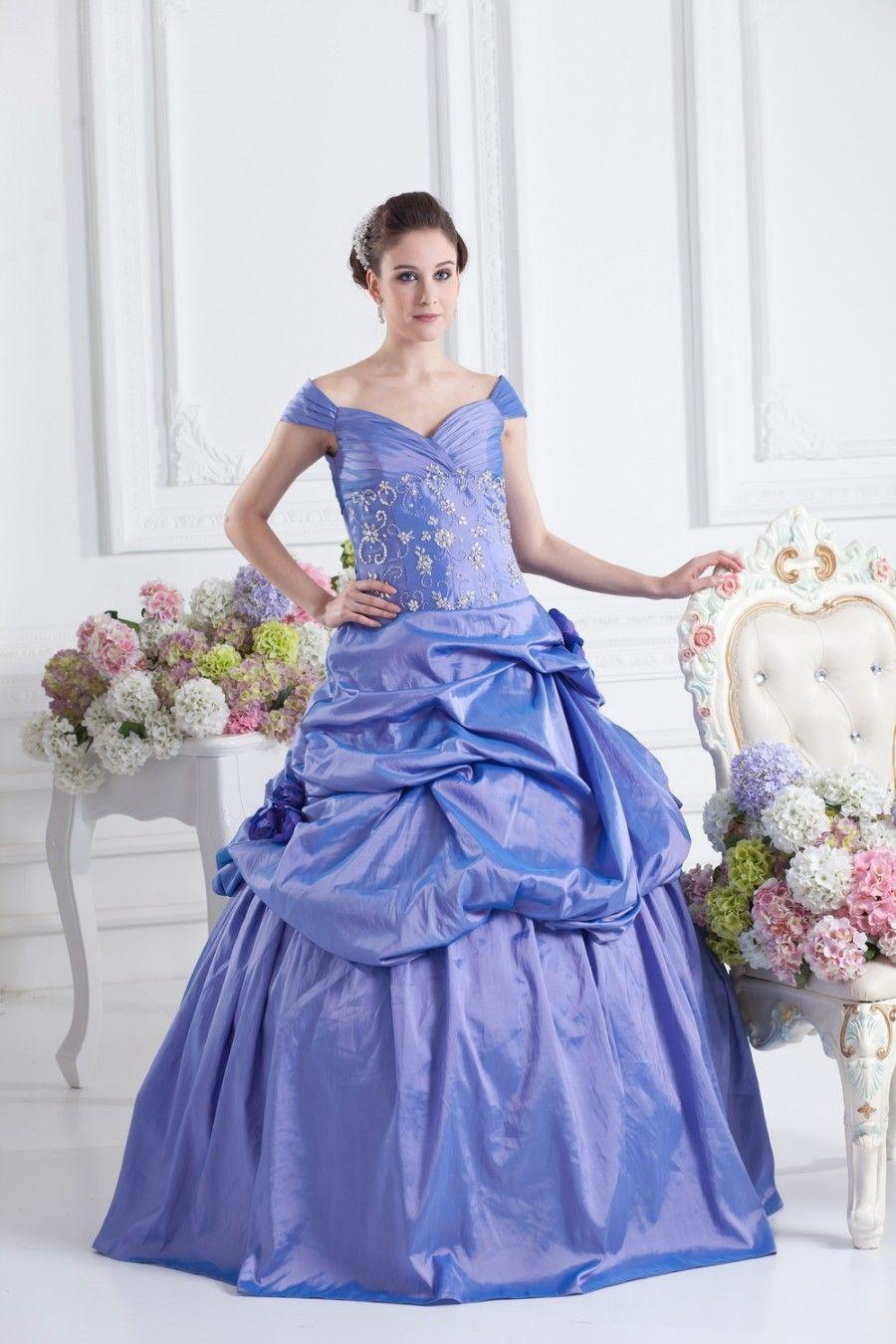 Carmen Ausschnitt Herz Ausschnitt Prinzessin Taft Hochzeitskleid ...