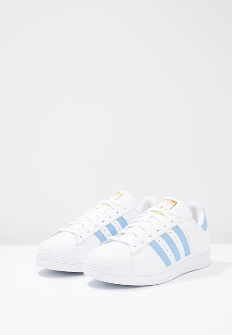 the best attitude b7310 2bccc Köp adidas Originals SUPERSTAR FOUNDATION - Sneakers - white light  blue gold metallic för 949,00 kr (2017-04-11) fraktfritt på Zalando.se