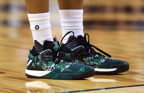TORONTO, ON - OCTOBER The shoes belonging to Kyle Adidas Crazylight Boost  2016 Halloween Lowry of the Toronto Raptors during the first half of an NBA  game ...