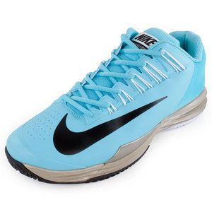 promo code 82475 1f1c6 The Nike Men s Lunar Ballistec Tennis Shoes Polarized Blue and Metallic Zinc