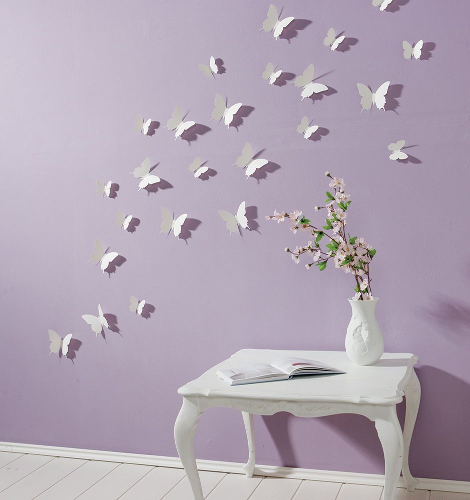 Schmetterlinge 3d wandtattoo wanddeko wanddekoration for Deko objekte wohnzimmer