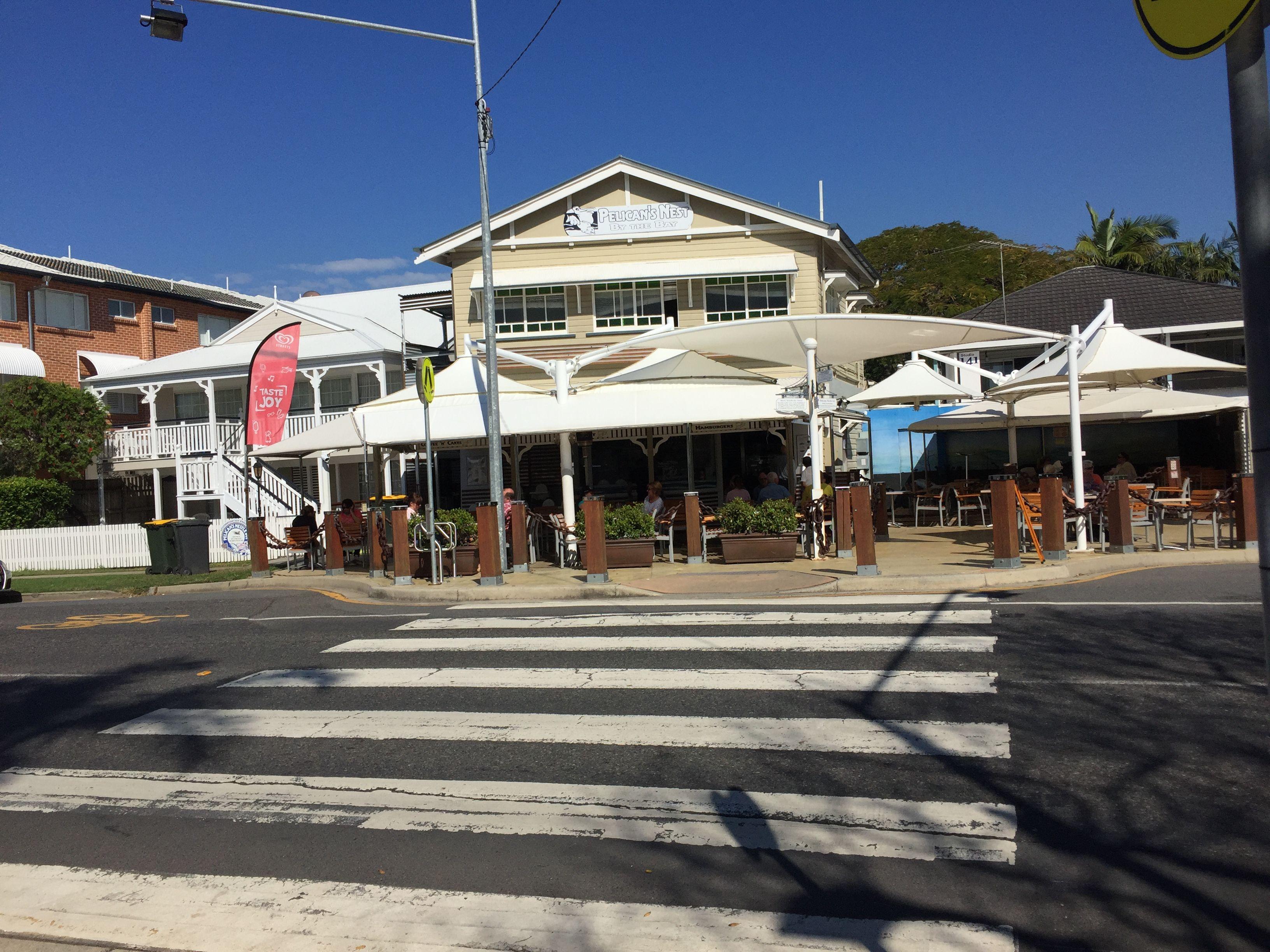 The Pelican's Nest Cafe at Wynnum, Brisbane, QLD - right on Moreton Bay