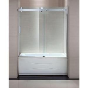 Schon Judy 60 In X 59 In Frameless Sliding Trackless Tub
