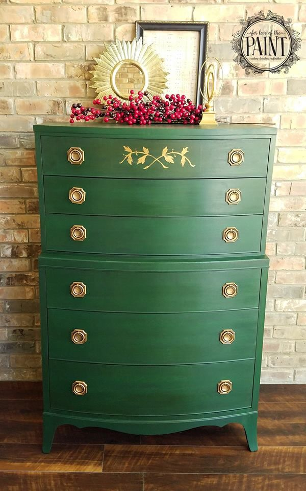 Annie Sloan S Amsterdam Green With Dark Wax Green Painted