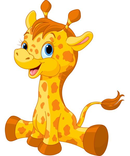 Free Giraffe Clip Art Image Cute Little Baby Giraffe Toy Image 18674 Giraffe Images Giraffe Cartoon Giraffe