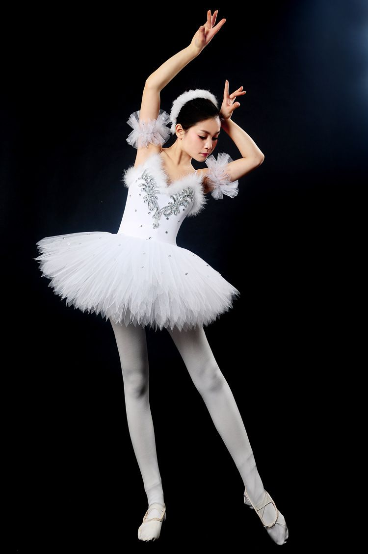 Ballet Swan Costume Adult Women Tutu Stage Show Skirt Lady Dancing Dress Stylish