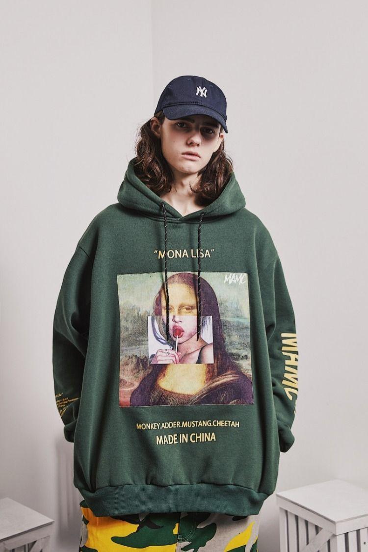 Mona Lisa Oil Painted Lollipop Mamc Hoodie Sweatshirt Hoodiedenik Hoodiesecondoriginal Hoodiemu17 Hoodieb Sudaderas De Moda Marca De Ropa Moda Ropa Hombre [ 1125 x 750 Pixel ]